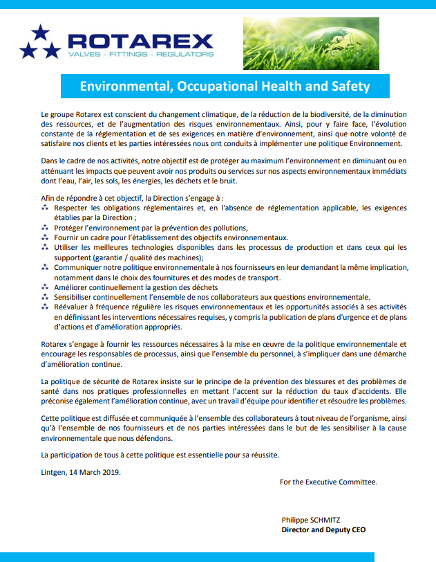 Quality, Safety & Environment Policy – English
